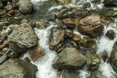 Beautiful Lush Waterfall. Mencune Waterfall, Beautiful Lush Waterfall royalty free stock photo