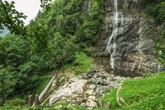 Beautiful Lush Waterfall. Mencune Waterfall, Beautiful Lush Waterfall stock photography