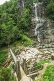 Beautiful Lush Waterfall Royalty Free Stock Photography
