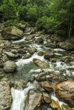 Beautiful Lush Waterfall Royalty Free Stock Photos