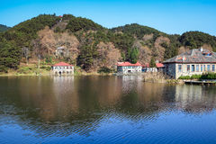 Beautiful lushan mountain scenery in the autumn Royalty Free Stock Images
