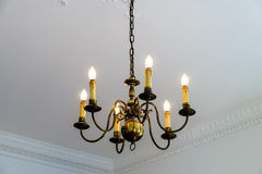 Beautiful luster in big house room Royalty Free Stock Image