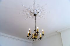 Beautiful luster in big house room Royalty Free Stock Photos