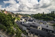 Beautiful Luxembourg City Buildings and Architecture Royalty Free Stock Photos