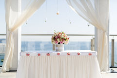 Beautiful luxurious altar decoration Stock Photography