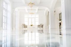 Beautiful luxurious interior of hall stock images