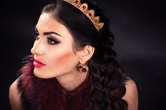 Beautiful luxurious princess in the diadem Royalty Free Stock Photos