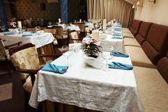 Beautiful and luxurious restaurant Stock Images