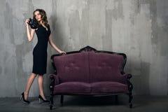 Beautiful luxurious woman Stock Photo