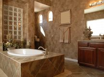 Beautiful luxury bathroom royalty free stock photos
