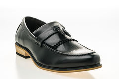 Beautiful luxury and casual leather men shoes Stock Images