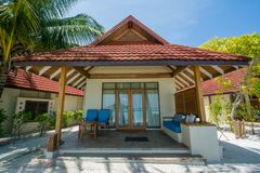 Beautiful luxury chalet located at the tropical resort Stock Images