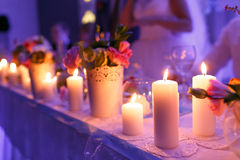 Beautiful luxury decor with candles Stock Image
