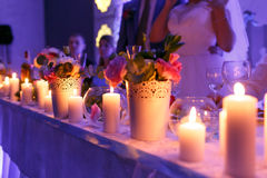 Beautiful luxury decor with candles Royalty Free Stock Photos