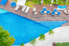Beautiful luxury hotel swimming pool resort Royalty Free Stock Photos