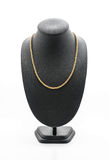 beautiful and luxury necklace on jewelry stand neck Stock Photo