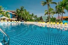 Beautiful luxury outdoor water pool Stock Photography