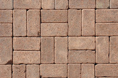 Beautiful Luxury Pavers for Patio as a Textured Background. Beautiful Luxury German Vintage Ceramic Clinker Pavers for Patio. Floor pavers in a path, detail of a Royalty Free Stock Photo