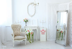 Beautiful luxury room in shabby chic style Stock Photography