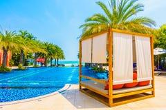 Beautiful luxury swimming pool Royalty Free Stock Photos
