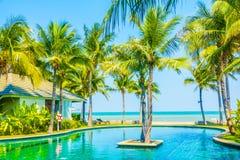 Beautiful luxury swimming pool Stock Images