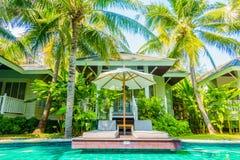 Beautiful luxury swimming pool Stock Photography