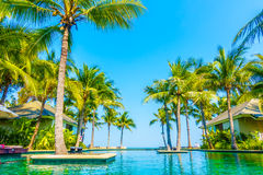 Beautiful luxury swimming pool Royalty Free Stock Images