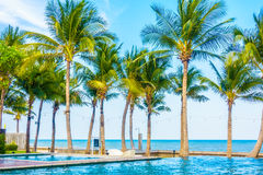 Beautiful luxury swimming pool Royalty Free Stock Photo