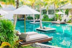 Beautiful luxury swimming pool Stock Photos