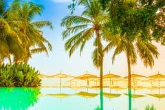 Beautiful luxury swimming pool Royalty Free Stock Image
