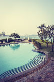 Beautiful luxury swimming pool Royalty Free Stock Photography