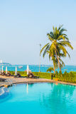 Beautiful luxury swimming pool Stock Photo