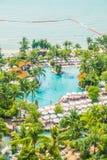 Beautiful luxury swimming pool Stock Image