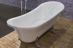 Beautiful luxury vintage empty bathtub. Free space Royalty Free Stock Image