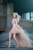 Beautiful luxury woman in wedding dress Royalty Free Stock Photography