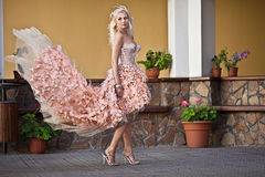 Beautiful luxury woman in wedding dress. Blond beautiful luxury woman in wedding dress Stock Photos