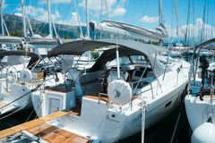 Beautiful, luxury yachts on a sunny day Royalty Free Stock Photography