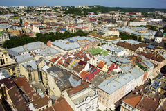 Beautiful  Lviv city in sunny day Royalty Free Stock Photography