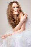Beautiful lying girl Stock Photos