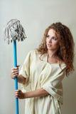 Beautiful mad woman Stock Photo