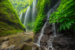 Beautiful Madakaripura waterfall Stock Photo