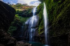 Beautiful of madakaripura waterfall, This is the tallest waterfall in Java, second tallest waterfall in Indonesia royalty free stock image