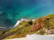 Beautiful Madeira Island. Blue Atlantic Ocean, landscape. Portugal. Coastline, cliffs Stock Photos