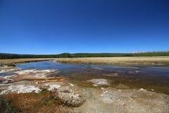 Beautiful Madison River Yellowstone National Park Stock Photo