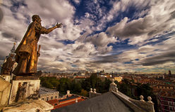 Beautiful Madrid city scene with cloudy sky Stock Photography