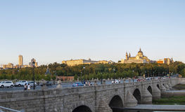 Beautiful Madrid at sunset Royalty Free Stock Photo