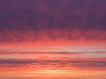 beautiful magenta and orange sky Royalty Free Stock Photo