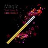 Beautiful magic background with wand Stock Photo
