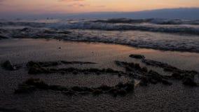 Beautiful magic sunset on the sea coast. stock footage