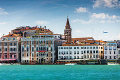 Beautiful and magical Venice, view from the sea, Italy Stock Photo